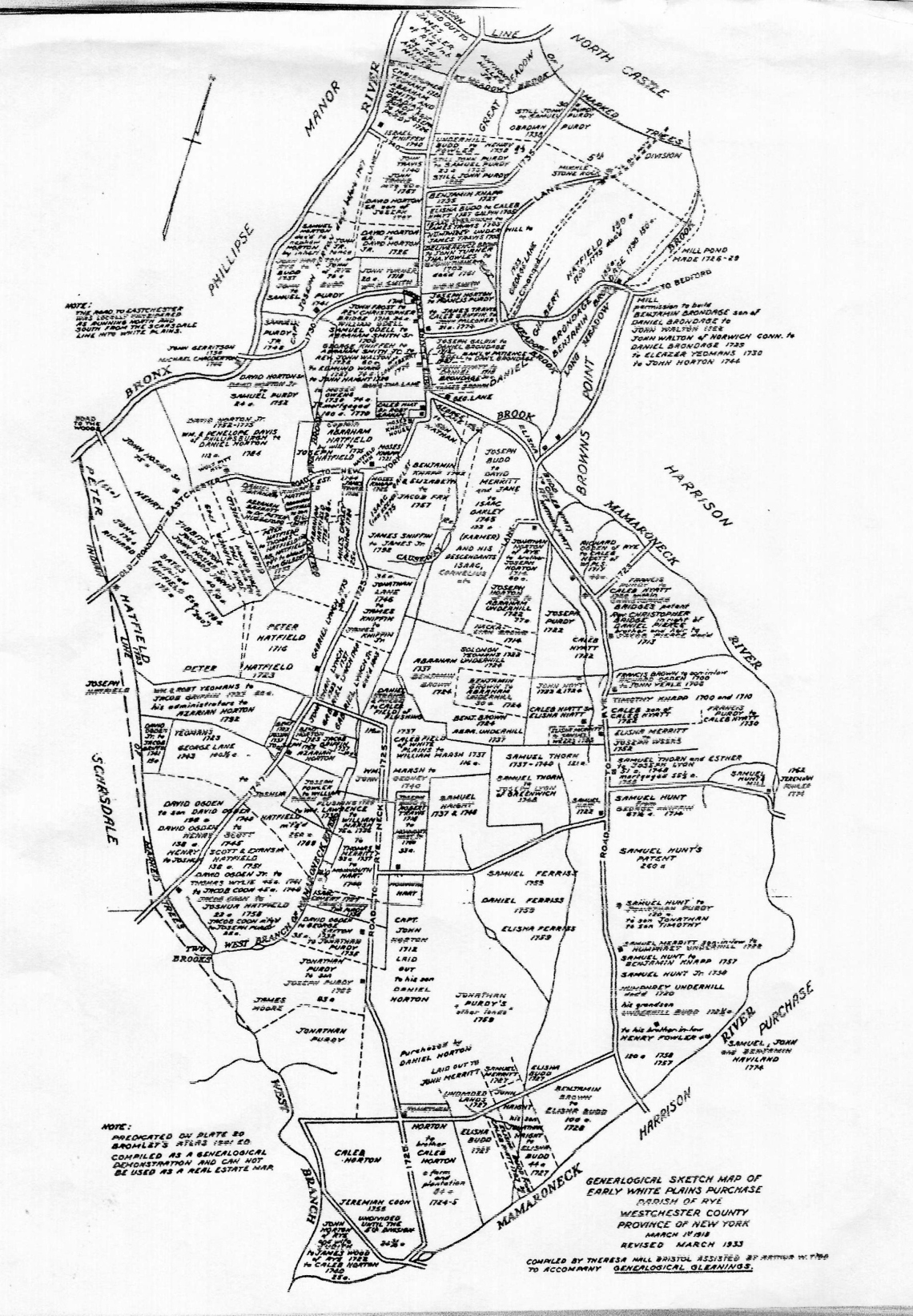 map of early settlers 1700's